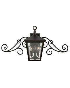Small Wall Mount Lantern with Scroll