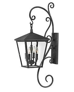 Large Wall Mount Lantern with Scroll