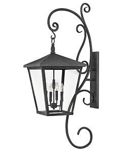 Extra Large Wall Mount Lantern with Scroll