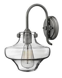 Hurricane Glass Single Light Sconce
