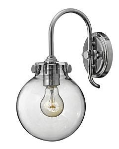 Globe Glass Single Light Sconce