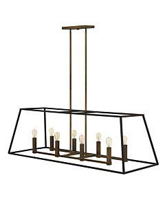 Eight Light Open Frame Linear