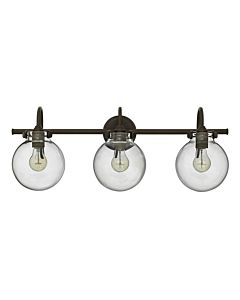 Globe Glass Three Light Vanity