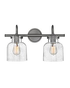 Cylinder Glass Two Light Vanity