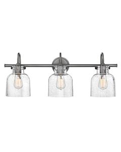 Cylinder Glass Three Light Vanity